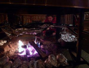 Roasting Reindeer Sausage
