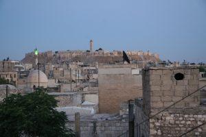 Aleppo's Citadel at dusk